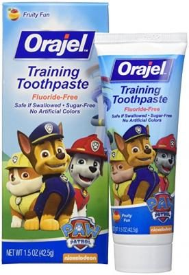 Orajel Toddler Training Toothpaste Fruity Fun Flavor - 1.5 oz (Pack of 3)