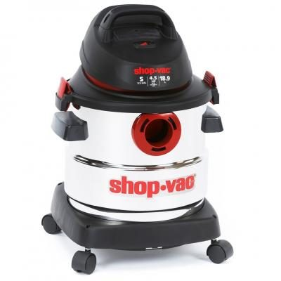 shopvac 45 peak hp stainless steel wet dry vacuum