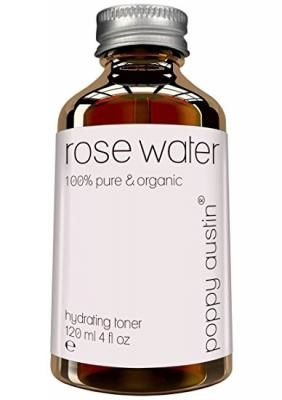 Pure Rose Water Facial Toner by Poppy Austin - Organic, Hand Made & Responsibly Sourced Skin Toner - Finest, Triple Purified Moroccan Rosewater, 4 oz