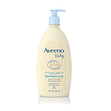 Aveeno Baby Daily Moisture Lotion, For Delicate Skin, Fragrance Free, 18 Oz.