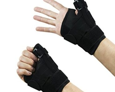 Thumb Brace Stabilizer Splint Spica Wrist Guard, Reversible, Single (1), One Size, Carpal Tunnel, Right and Left Hand, 3 Straps Adjustable, Fits Around Wrist 5.5 - 10.5 Inches