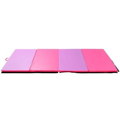 the soozier pu leather gymnastics arts folding mat is an excellent mat for tumbling pilates exercise programs yoga and of course