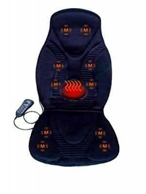 Five Star FS8812 10-Motor Vibration Massage Seat Cushion with Heat - Neck - Shoulder - Back & Thigh Massager with Heat (Black)