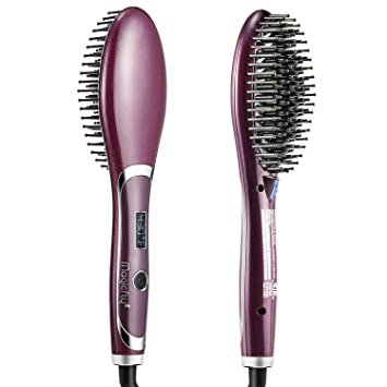 Magicfly Double Anion Hair Care Brush, Gift Packaging Electric Comb Rotating Straightening brush Safer Ceramic Faster Heating Straight Hot Brush, Anti-Scald