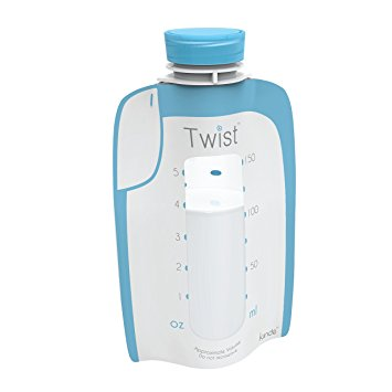Twist Pouches - Direct-pump, Twist-cap Breastmilk Storage Bags (includes caps) (6 oz - 160 Pack)