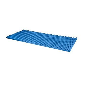 Duro-Med Foam Bed Topper, Hospital Bed Pad, Foam Bed Pad, Blue, Made in the USA, 33 by 72 by 2 Inches