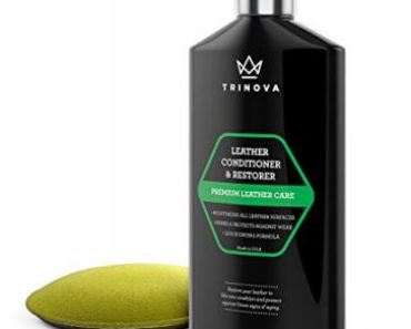 TriNova Leather Conditioner and Restorer with Water Repellent Formula, 8 oz