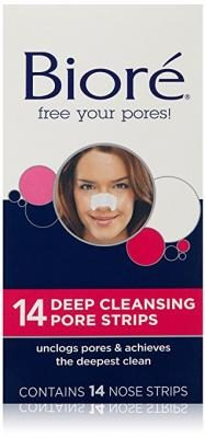 Biore Deep Cleansing Pore Strips , 14 Count Nose Strips (Packaging May Vary)