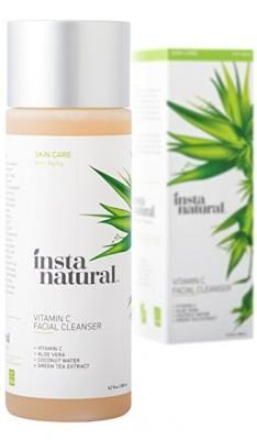 Vitamin C Facial Cleanser - Anti Aging, Breakout & Wrinkle Reducing Face Wash for Clear & Reduced Pores - With Organic & Natural Ingredients - For Oily, Dry & Sensitive Skin - by InstaNatural - 6.7 OZ